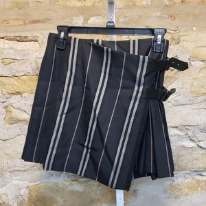 Burberry London black plaid mini skirt